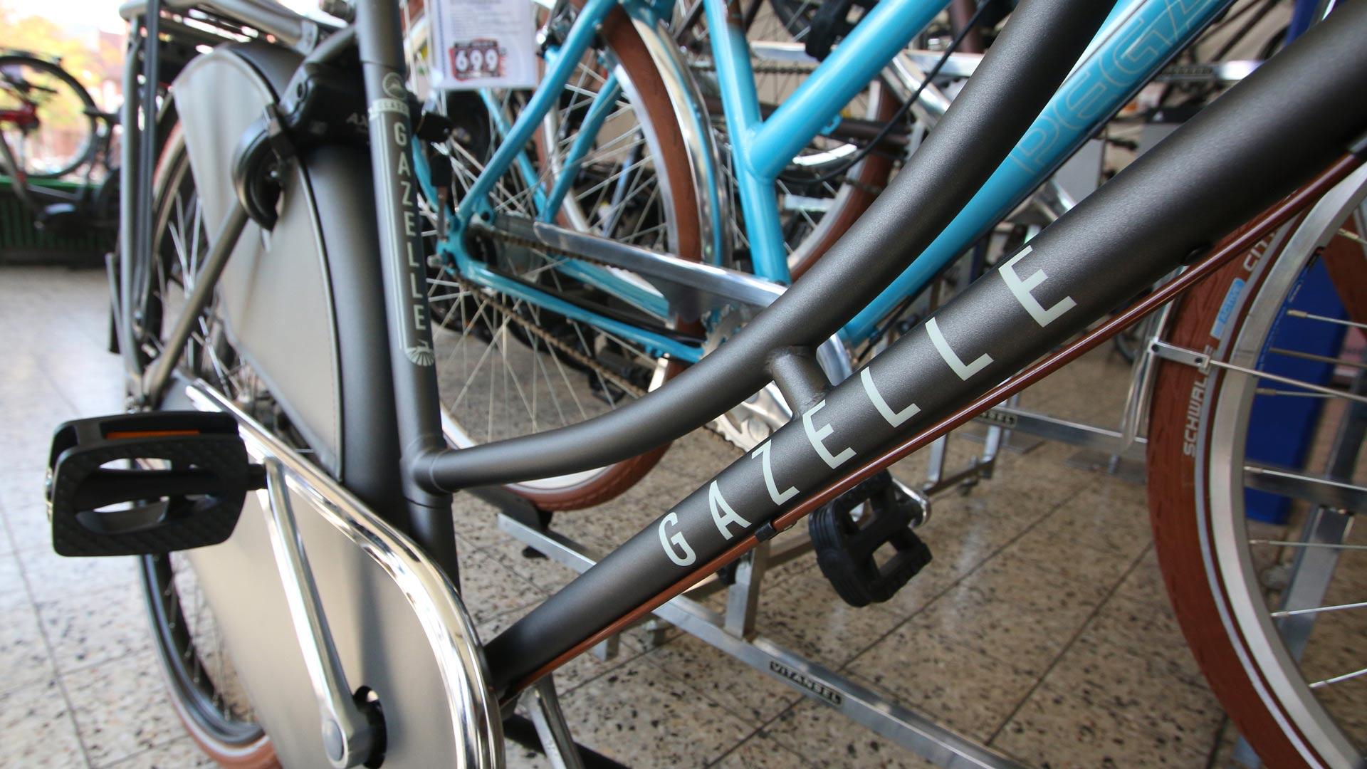 Detail Gazelle-Fahrrad