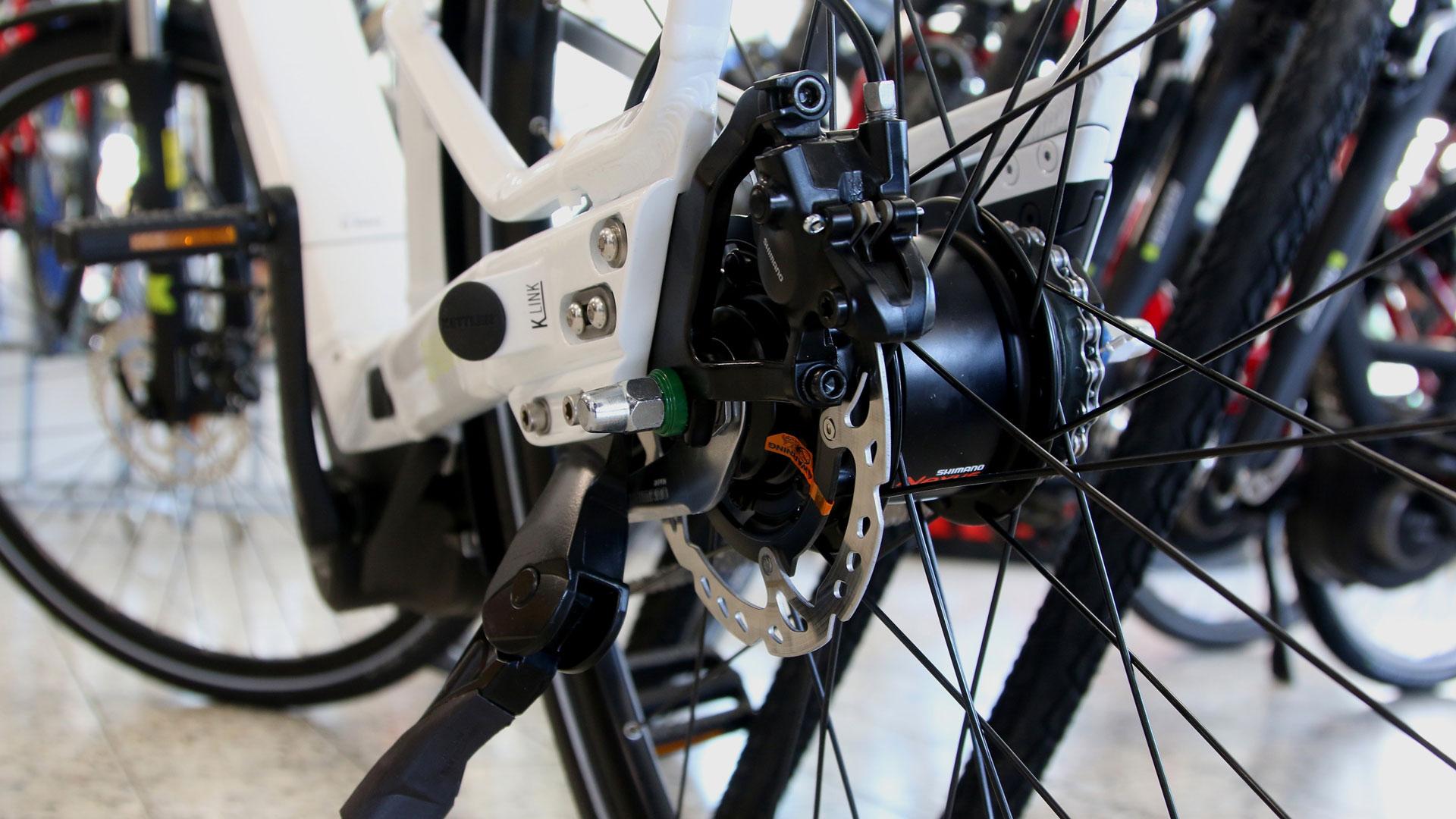 Detailbild eines Fahrrades